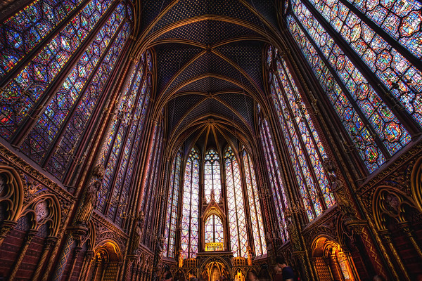 Photograph: Sainte-Chapelle - Upper chapel of the Sainte-Chapelle, a royal chapel in Paris, France.