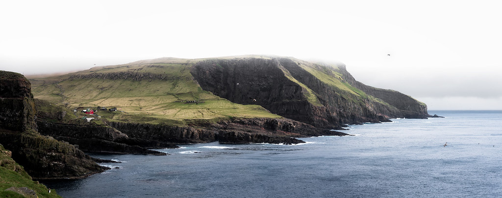 Photograph: Mykines - Panorama of Mykines in the Faroe Islands.