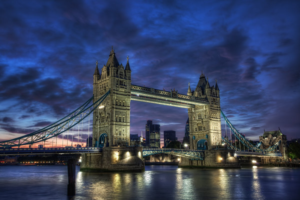 Photograph: Tower Bridge Blue Hour - London's Tower Bridge at blue hour.
