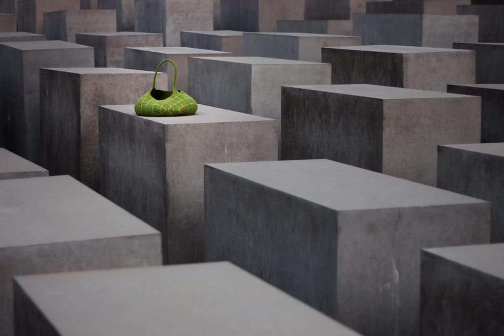 Photograph: Six Million - Memorial to the Murdered Jews of Europe, found in Berlin, Germany.
