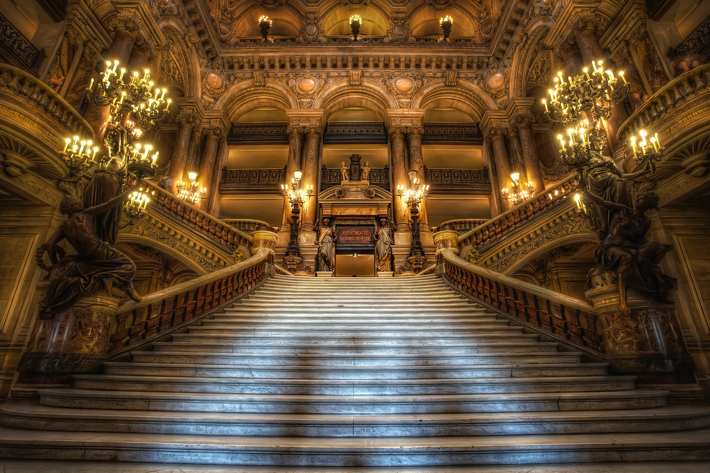 Photograph: The Phantom of the Opera - Main staircase at the Palais Garnier, the Paris Opera House.