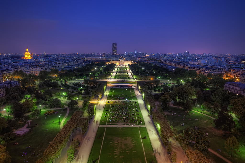 Photograph: Parisian Purple - Paris skyline at twilight from the Eiffel Tower.