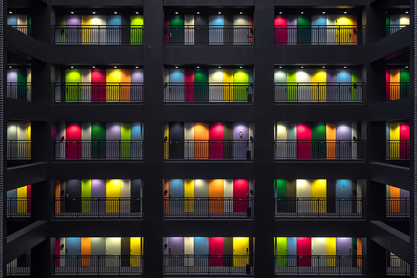 Photograph: House of a Thousand Colours - A colourful office block on Odaiba island in Tokyo, Japan.