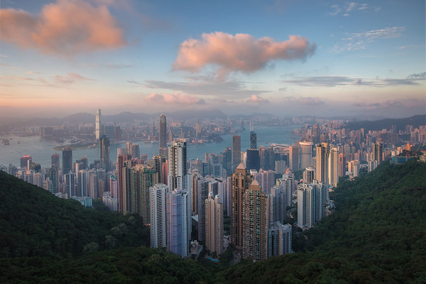 Photograph: Hong Kong Sunset - Sunset over Hong Kong from Victoria Peak.