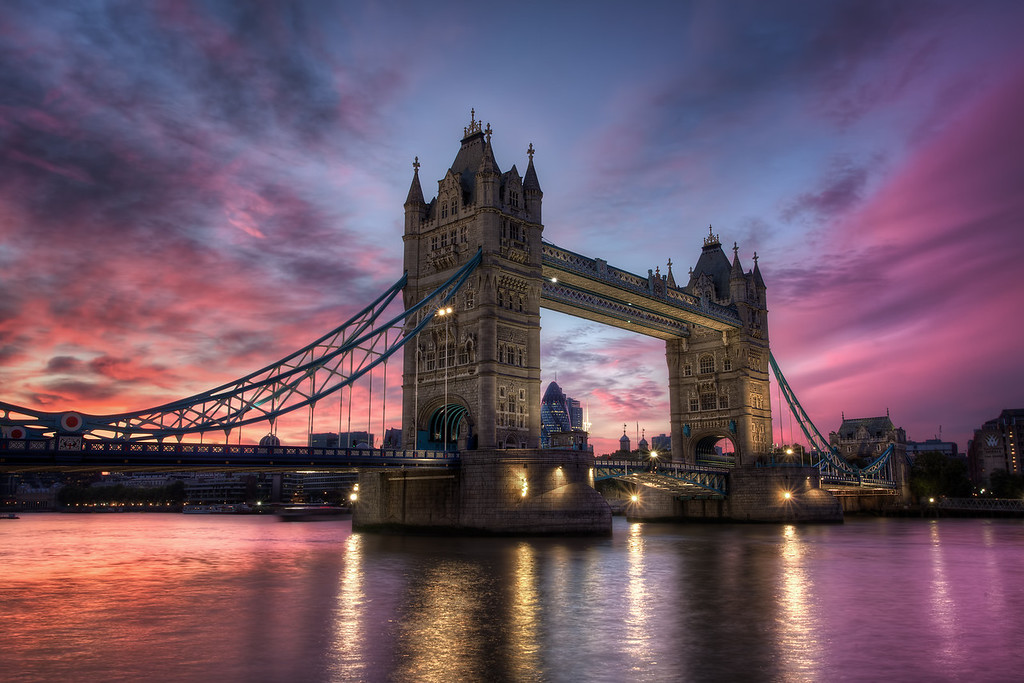 Photograph: Tower Bridge Sunset - Tower Bridge at Sunset