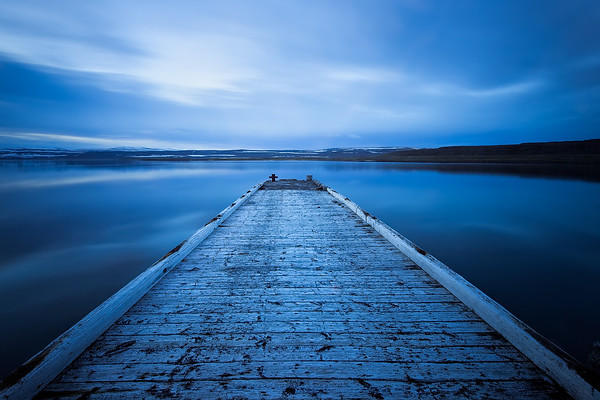 Photograph: Endless Blue - Long exposure of a pier in the Westfjords of Iceland.