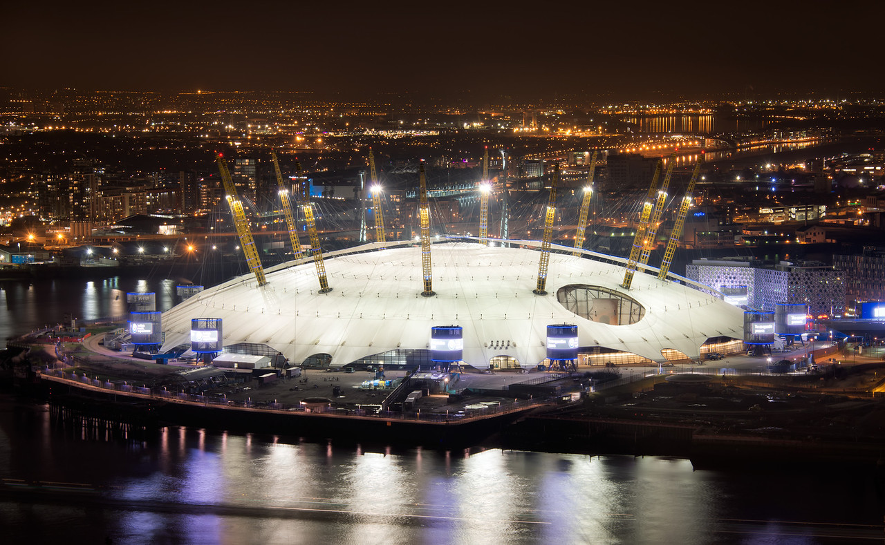 The Saucer Has Landed<br /> The Millenium Dome / O2 Area in Greenwhich from above.