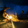 The Fisherman and The Lamp<br /> A cormorant fisherman in Yanghsuo, Guiliin, China lights his lamp before setting off down the river.
