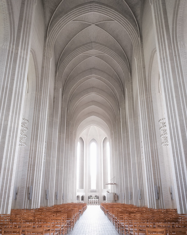 Photograph: Grundtvig - Grundtvig's Church in Copenhagen, Denmark.