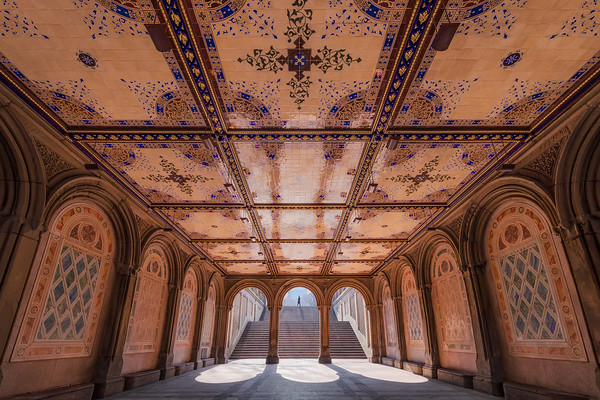 Photograph: Bethesda Terrace - Early morning shadows at Bethesda Terrace in Central Park, New York City.