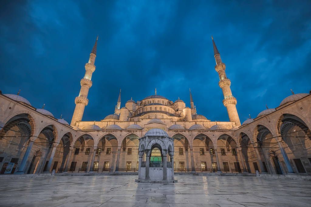 Photograph: Blue Mosque - A blue hour shot of The Blue Mosque (Sultan Ahmed Mosque) in Istanbul, Turkey.