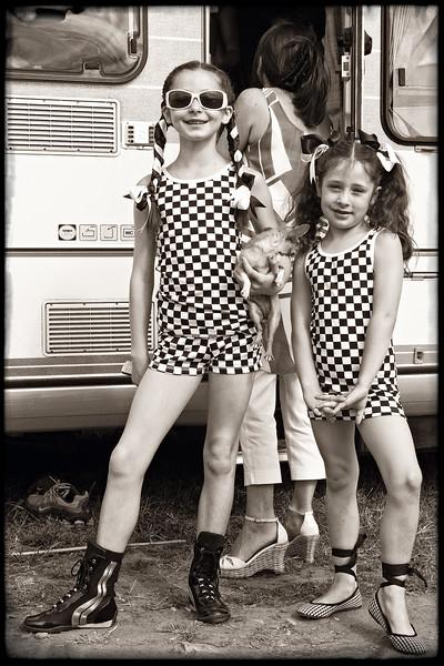 """Checkered Outfits"" Appleby Horse Fair, England"