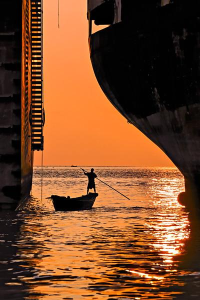 SHIP BREAKING YARD SUNSET CHITTAGONG