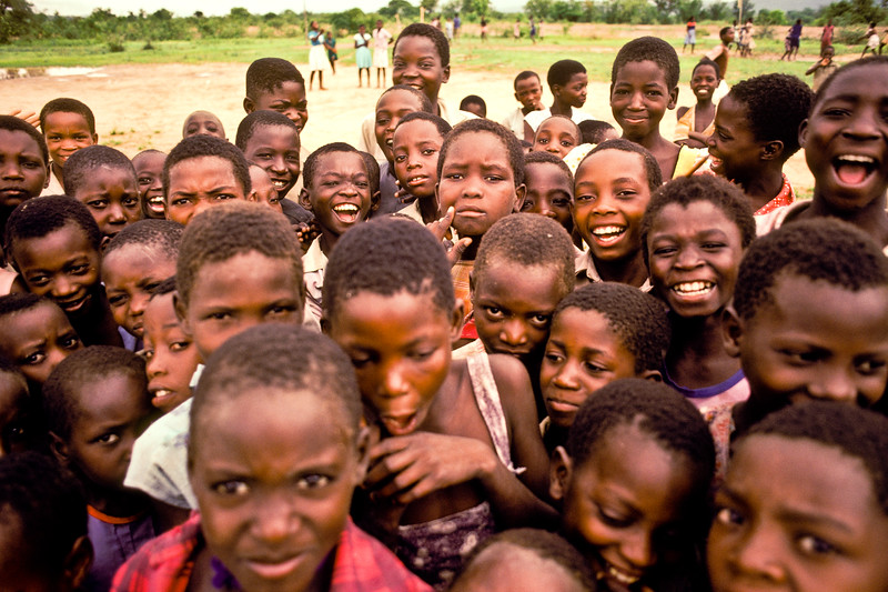 SCHOOL CHILDREN, ZAMBEZI VALLEY ZIMBABWE