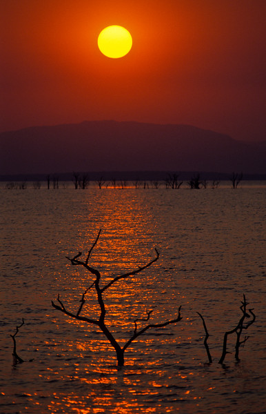 SUNSET OVER KARIBA, ZIMBABWE