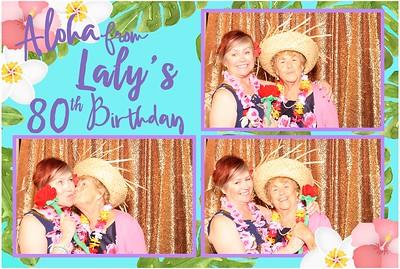Aloha from Laly 80th birthday