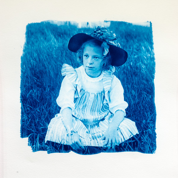From a glass plate negative, circa 1900 (brush coated)