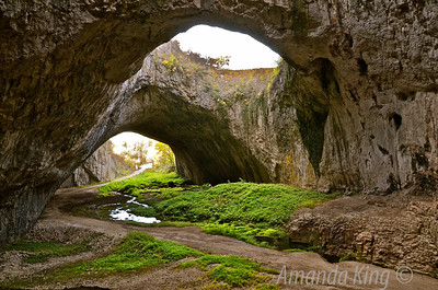There is a river inside the cave which flows out to the larger Osam river.