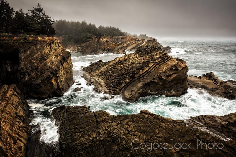 Sandstone cliffs of Oregon Coast