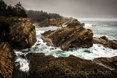 Sandstone cliffs of Oregon Coast