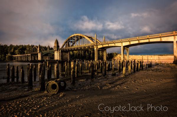 Siuslaw River Bridge, early morning light
