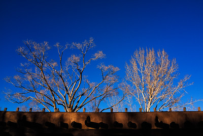 Winter evening in Santa Fe