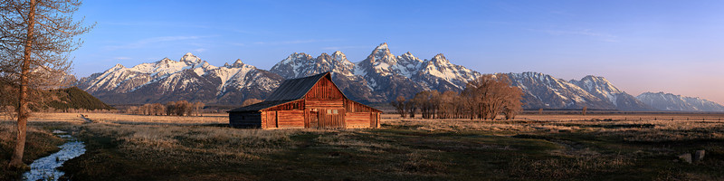 Teton Dawn - The Moulton Barn