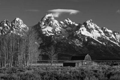 Tetons and John Moulton Barn