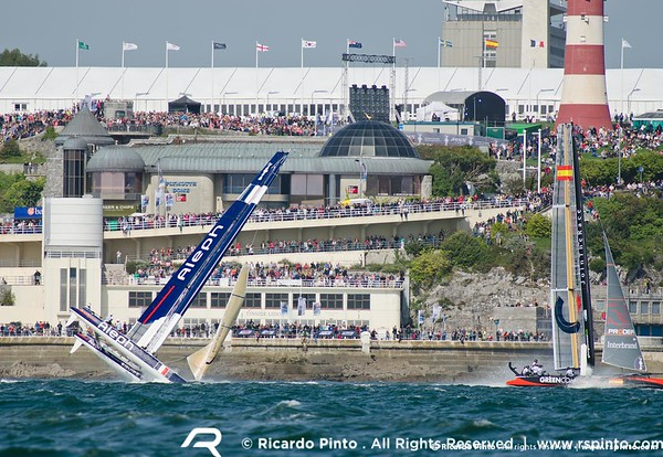 "11/09/2011 - Plymouth (UK) - 34th America's Cup - AC World Series - Plymouth 2011 -  Racing Day 2 -  © Ricardo Pinto -  <a href=""http://www.rspinto.com"">http://www.rspinto.com</a>"