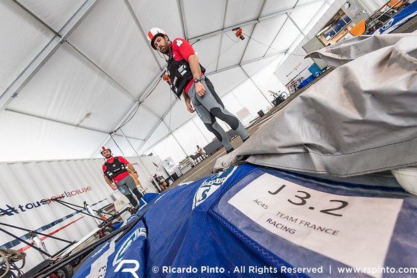 Racing Day 2 of Louis Vuitton America's Cup World Series Fukuoka - Teams Base