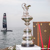 America's Cup Trophy & Land Rover BAR - Racing Day 2 of Louis Vuitton America's Cup World Series Oman
