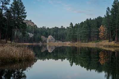 Dusk at Center Lake - The Black Hills, SD