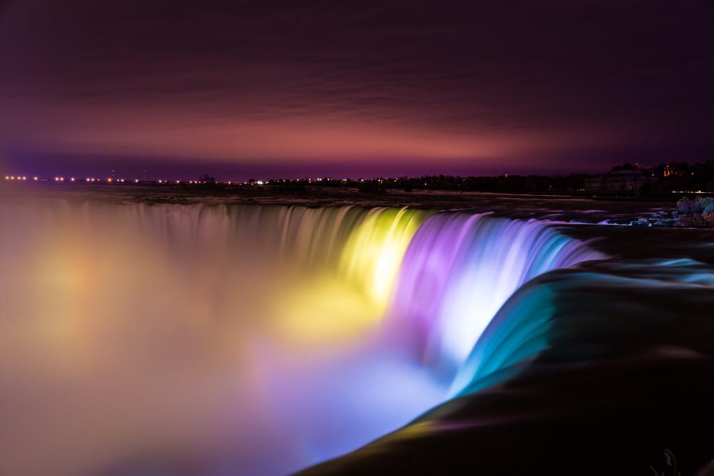 Horseshow Falls at Night