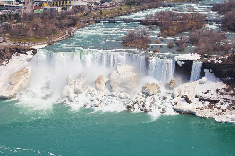 A high angle view of the American Falls (Niagara Falls)
