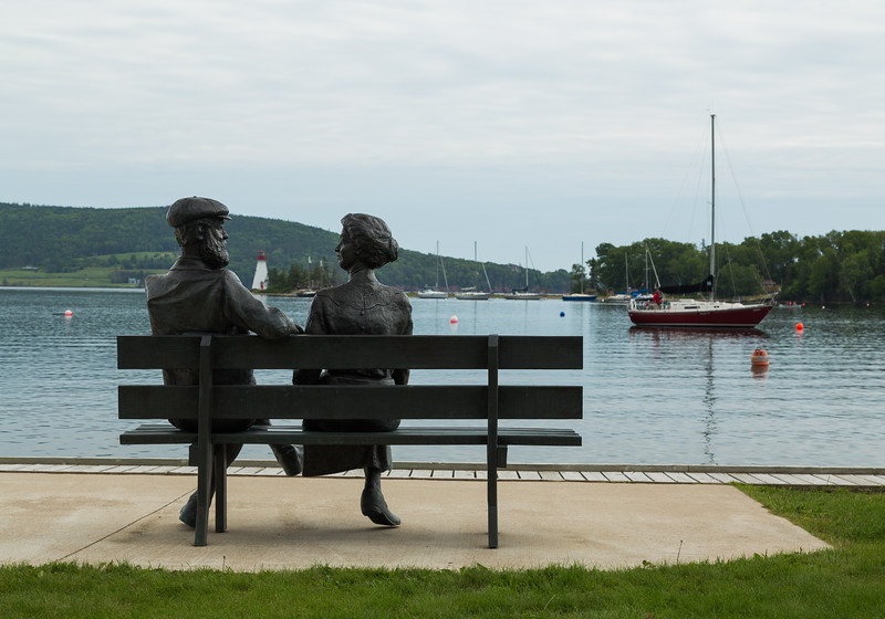 Statue at the Baddeck Waterfront