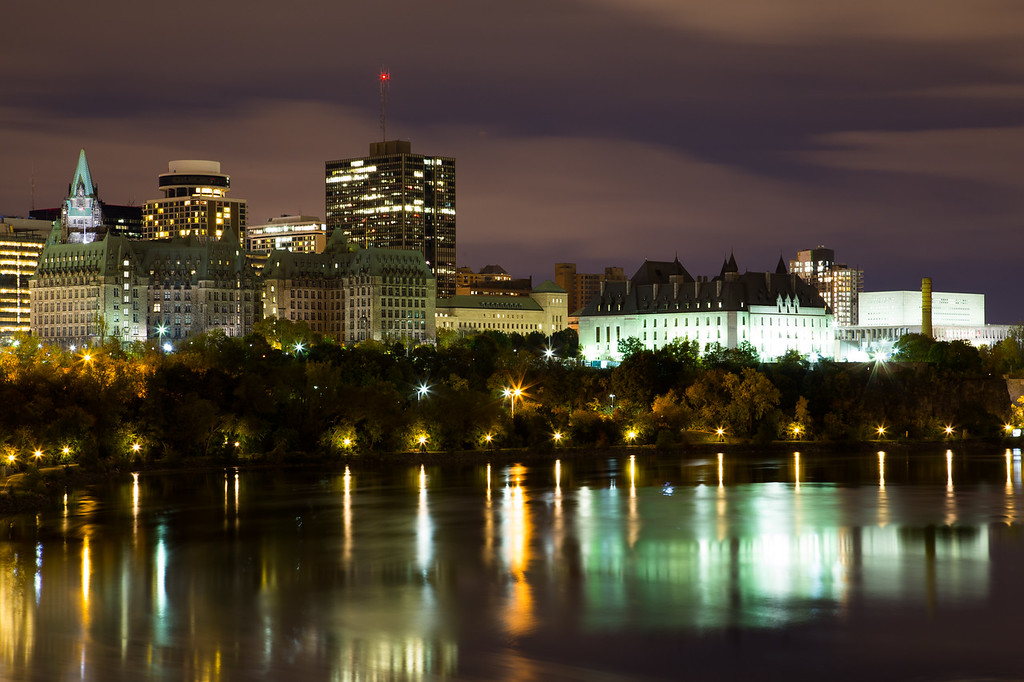 Part of the Ottawa Skyline at Night