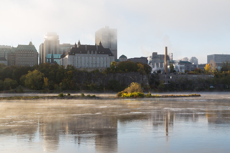Morning Mist on the Ottawa River
