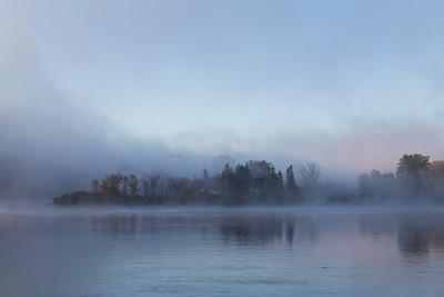 Morning Mist on the Ottawa River
