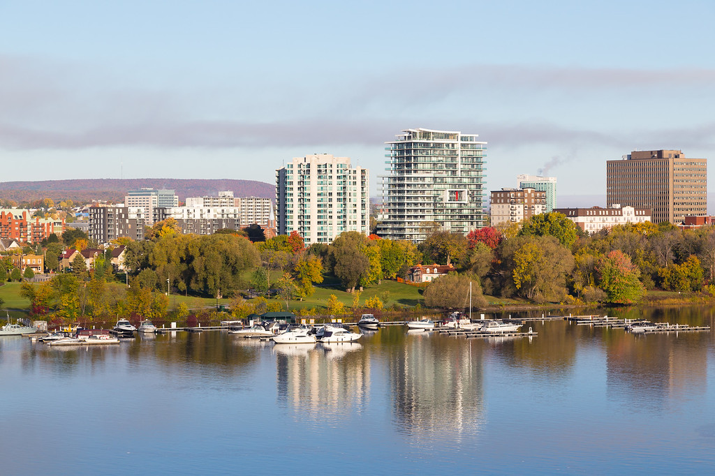 Boats along Ottawa River