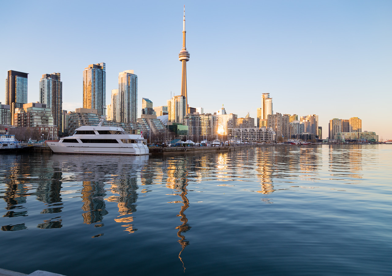 Toronto Waterfront at sunset