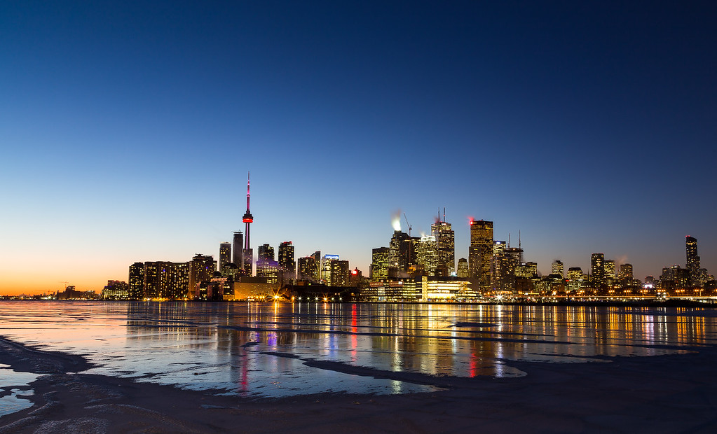 Toronto Skyline in the Winter from the East
