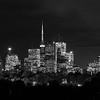 Toronto Night Skyline in Black and White