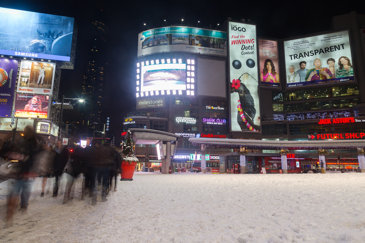 Yonge and Dundas Square in the Winter