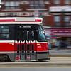 Toronto Street Car Moving at Speed