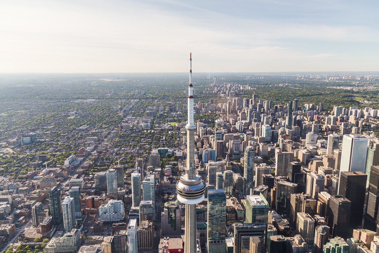Downtown Toronto Viewed from the Air