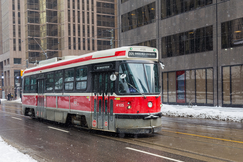Toronto Streetcar in the Winter