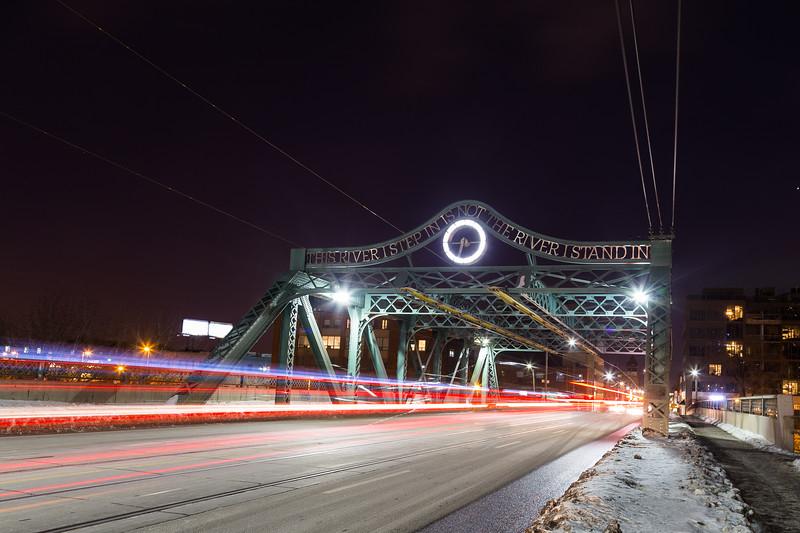 Bridge and traffic in Toronto at Night