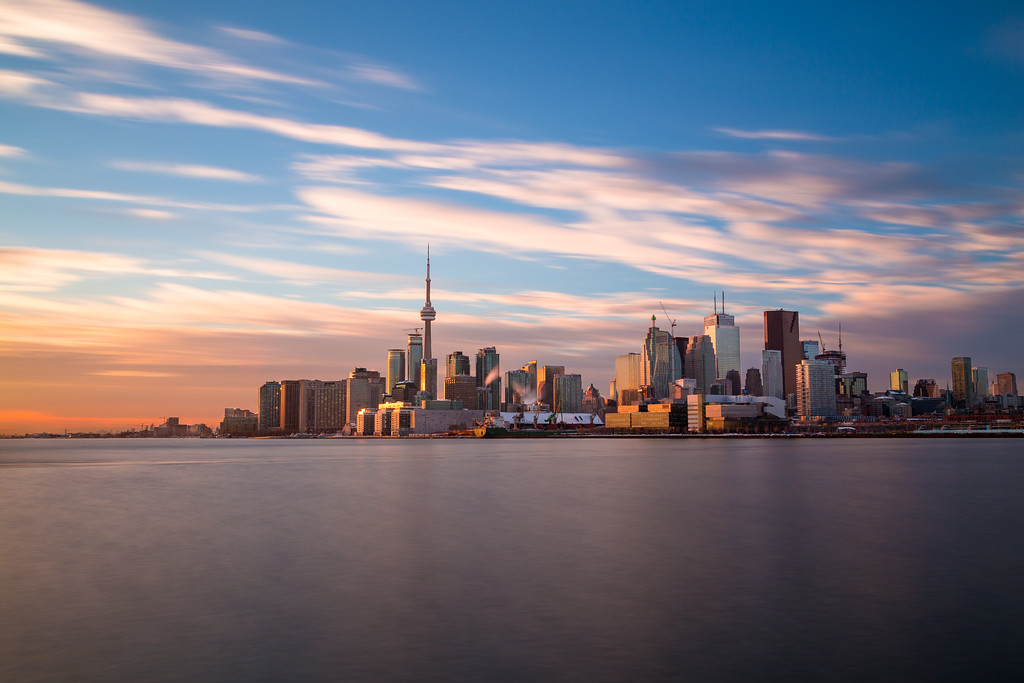Toronto Skyline from the East at sunset