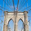 Arches of Brooklyn Bridge in NYC