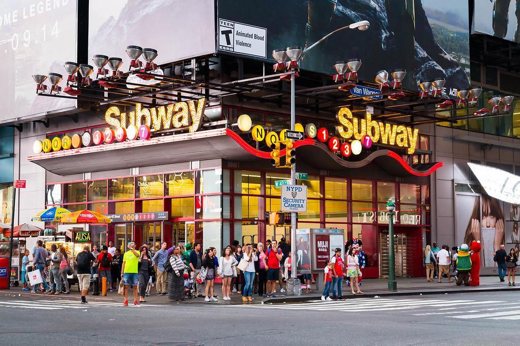 Theatre District Subway Stop - New York City